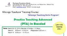 Practice Teaching Advanced (PTA) in Baguio