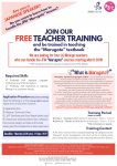 MARUGOTO Teacher Training – Training starts on October 4