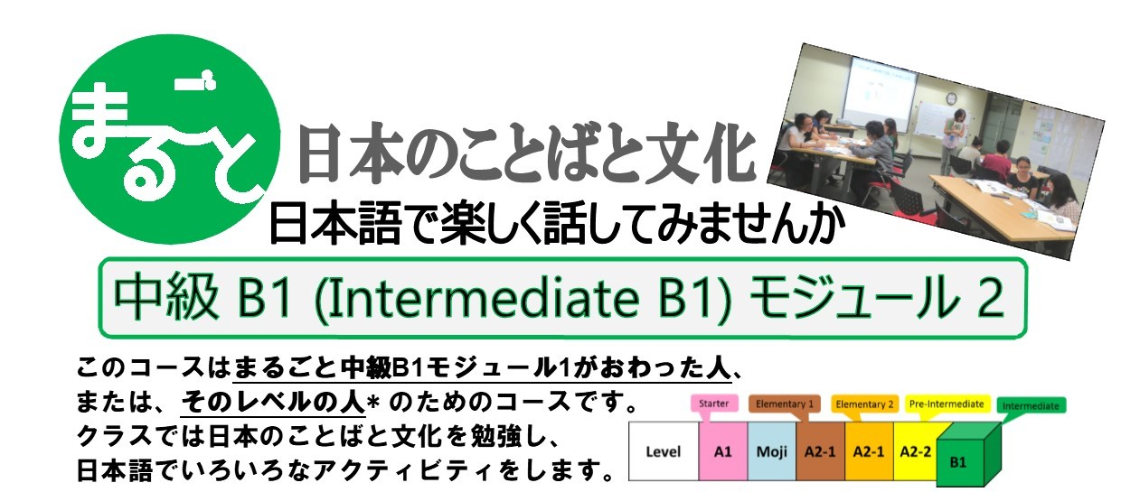 MARUGOTO Intermediate Japanese: B1 Module 2 – Application Deadline: April 12 (Friday)