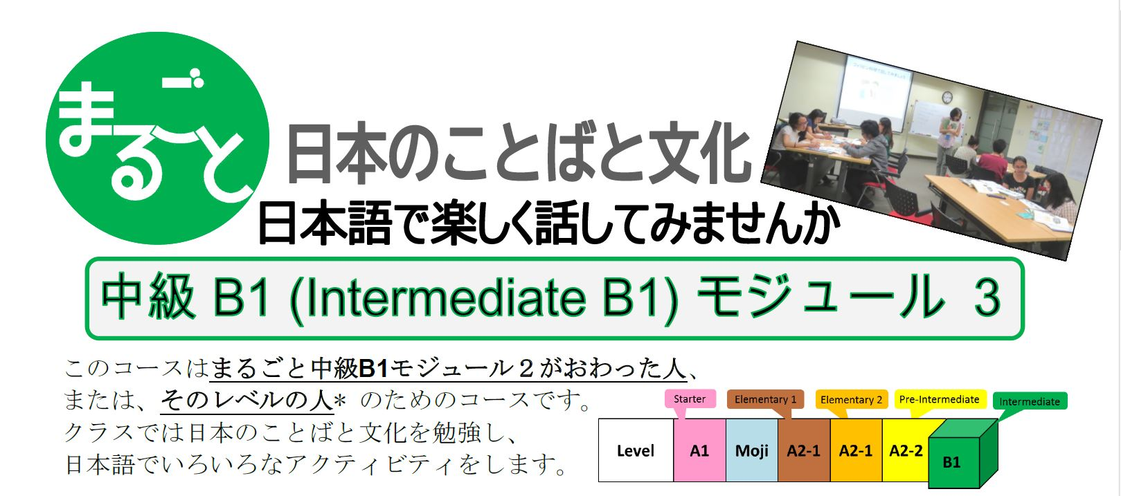 MARUGOTO Intermediate Japanese: B1 Module 3 – Deadline: July 22 (Mon.)