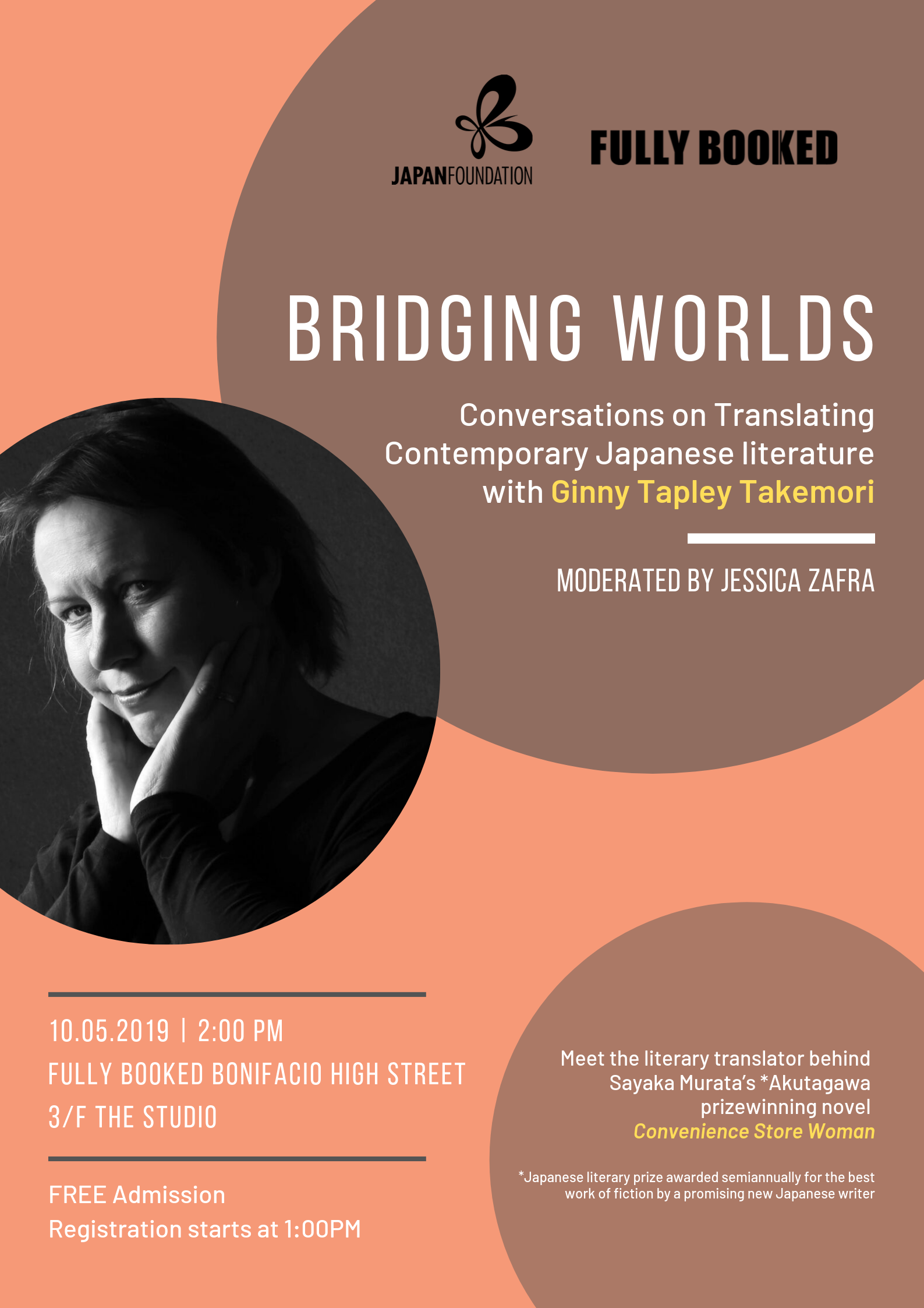 Literature Talk with Ginny Takemori in Fully Booked