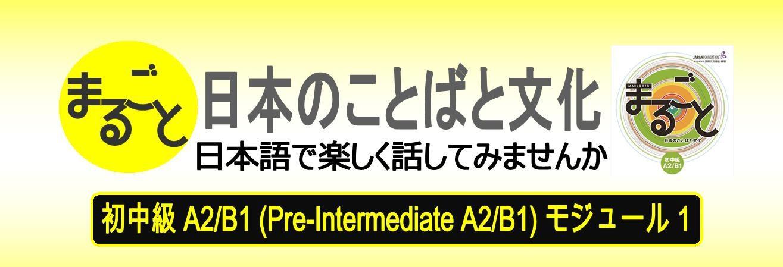 MARUGOTO Pre-Intermediate Japanese A2/B1 Module 1 – Deadline: January 6 (Mon)